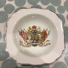 J&G Meakin Art Deco dish commemorating King George and Queen Mary Silver Jubilee