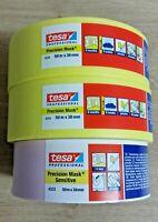 Tesa Precision Masking Tape & Precision Sensitive Triple Pack 50m x 38mm *NEW*