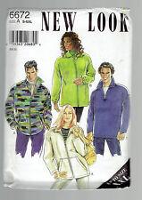 NEW LOOK  pattern 6672 Unisex zippered jacket SZ S M L XL XXL  uncut unused