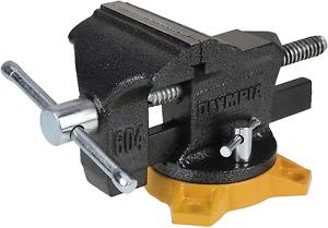 Heavy Duty Vise Grip Bench Mountable Vise Swivel Base Lock Work Table 4 Inch