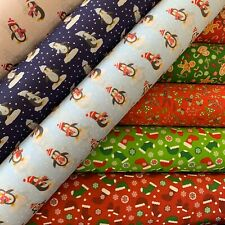 "Christmas Polycotton Fabrics 4 - Fun Designs  45""/115cm by the Metre"