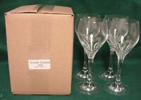 Schott Zwiesel REVUE Water Goblets SET OF FOUR Mint in BOX More Avail.