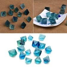 Lot Natural Clear Blue-Green Fluorite Crystal Point Octahedron Rough Specimens