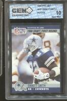 1990 Pro Set Emmitt Smith #685 RC Rookie Gem Mint 10 Dallas Cowboys