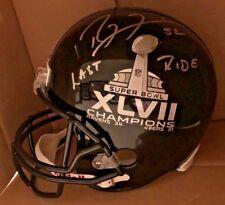 Ravens HOF RAY LEWIS Autograph FS Super Bowl Helmet LAST RIDE inscription JSA
