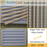 Model Railway Roof Ridges and Pipes mould - OO Gauge - DT05