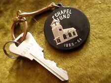 Vtg 60s I.O.O.F.  1964 LODGE COLORADO Advertising Keychain Keyring Fob