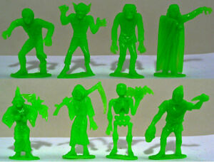 M.P.C. Recast 60mm Movie Monsters - 8 in 8 poses - 1990s production soft plastic