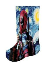 Deadpool Christmas Stocking. Cross Stitch Kit.
