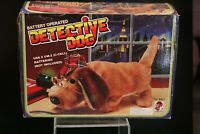 Vintage Detective Dog Battery Operated w/box 70's Fu Shin Toys New in Box Tested