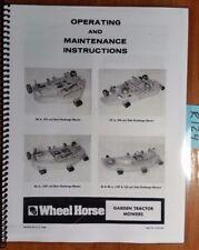 """Wheel Horse Garden Tractor Mower 36"""" Rear 37"""" Side 42"""" Rear 42 & 48"""" Side Manual"""