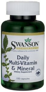 SWANSON Daily Multivitamin and Mineral, 100 Capsules