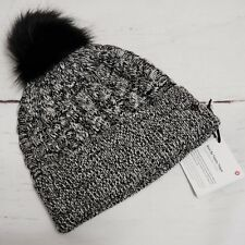 Lululemon Wool Be Toasty Toque Angel Wing Black White NWT