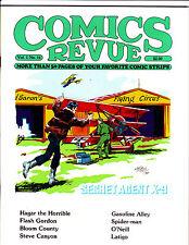 """Comics Revue Vol 1 No 11-1985-Strip Reprints- """"Secret Agent X-9 Cover!  """""""