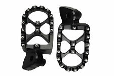 BLACK MX Motocross Footrests Foot Pegs YAMAHA YZ250 YZF250 YZF426 YZF450 99-15