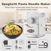 Electric Pasta Noodle Maker Spaghetti Dough Roller Cutter Machine Home  C