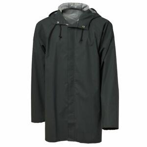 Viking Rubber Popular Hooded Light Weight Rain Jacket Waterproof Dark Green 340g