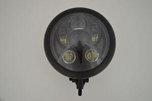"6.5"" LED Daymaker Bottom Mount Matte Black Steel Motorcycle Motorbike Headlight"