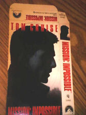 TOM CRUISE hand-signed MISSION IMPOSSIBLE VHS Tape Cover with COA !