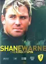 SHANE WARNE:- THE KING OF SPIN – DVD, CRICKET, CHANNEL 9, 94 MINUTES, REGION 0