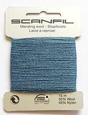 scanfil Hilo para Zurcido & Zurcido - 55% Lana 45% Nailon 15 metres - Acero Azul