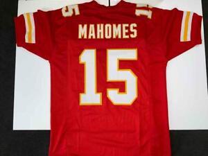 Pat Mahomes Jersey Custom Unsigned Stitched Red Kansas City Jersey Size XL