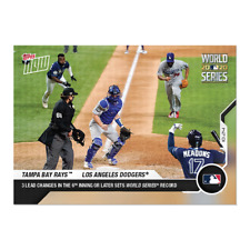 2020 TOPPS NOW #468 TAMPA BAY RAYS / LOS ANGELES DODGERS EPIC GAME 4
