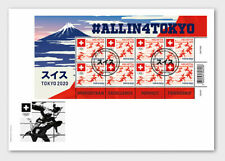 Switzerland 2021 suisse Olympic Games ALL IN TOKYO japan sport 2020 8v FULL FDC