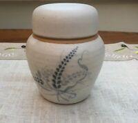 Vintage Ginger Jar. Studio Pottery. 11 Cm