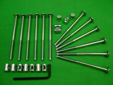 Bed / cot bolts 12 sets of M6 x 100mm bolt, allen key & 14mm barrel nut=25 items