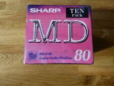 2x 10 Pack Sharp Md-r 80 Digital Audio Minidiscs