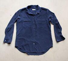 Equipment Femme Blue Signature Button Down Shirt Blouse Sz L