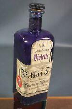 Antique Pelikan MASTER Ink Bottle 5DL.Gunther Wagner VIOLETTE Label Fountain Pen
