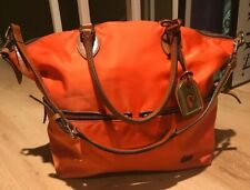 Dooney & Bourke Orange Nylon Large Crossbody Shoulder Satchel Hand Bag