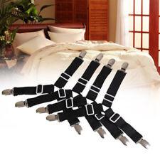4X Triangle Mattress Bed Sheet Clips Grippers Strap Suspender Fastener Holder US