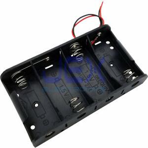 4X C DIY Battery Holder Case Box Base 6V/5V Volt PCB Mount With Bare Wire Ends