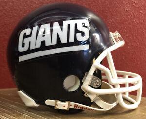 Rare NFL Throwback New York Giants Riddell Mini Football Helmet & Facemask
