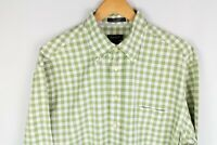 Gant Ohio Oxford Men Casual Shirt Regular Fit Cotton Check Green size L