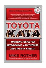 Toyota Kata: Managing People for Improvement Adaptiveness and S... Free Shipping