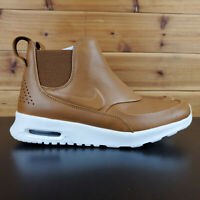 Nike Air Max Thea Mid Sneakerboot Shoes Boots 859550 200 Brown Leather Womens