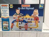Matchbox Zug Eisenbahn LEERBOX !   My First Playtrain  - Railway ! Ohne Inhalt