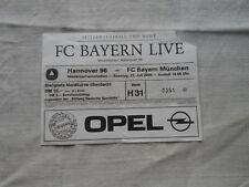 2000/01 Hannover 96 - Bayern München Benefizspiel Sammlerticket