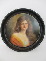 Antique Litho Portrait Victorian Girl Stegmaier Brewing Co Wilkes-Barre Pa. Tray