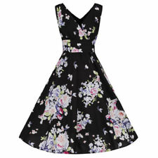 Retro Regular Size 100% Cotton Dresses for Women