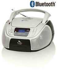 REPRODUCTOR MUSICA PORTATIL RADIO CD BLUETOOTH MP3 USB MINI CADENA DESPERTADOR