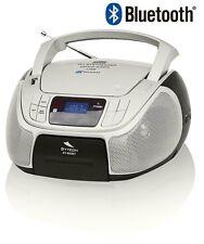 REPRODUCTOR MUSICA PORTATIL RADIO CD BLUETOOTH MP3 USB MINI CADENA DESPERTADOR