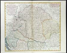 1794 - Original Large Folio Map of HUNGARY TRANSYLVANIA by Laurie Whittle (LM7)