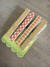 Clothes Peg Fridge Magnets Office Clips Memo Board Photo 4 Pack FREE POSTAGE