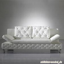 ROXY Schlafsofa Schlafcouch Sofa Bettkasten im Barock-Look - Weiß