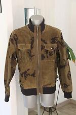 jolie veste  en  cuir camouflage homme CHEVIGNON   taille XL Très bon état